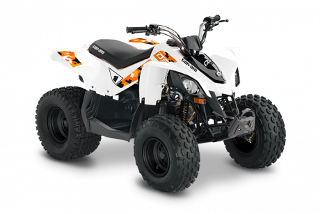 2022 Can-Am DS 70 WHITE