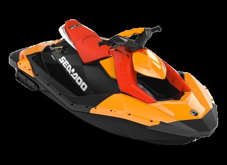2022 Sea-Doo SPARK 2 up orange-crush/lava-red